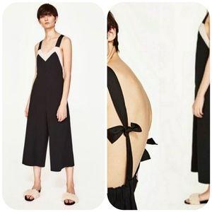 Zara Wide Leg Romper Jumpsuit Size S